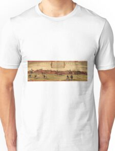 Leipzig Vintage map.Geography Germany ,city view,building,political,Lithography,historical fashion,geo design,Cartography,Country,Science,history,urban Unisex T-Shirt