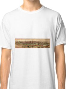 Leuven Vintage map.Geography Belgium ,city view,building,political,Lithography,historical fashion,geo design,Cartography,Country,Science,history,urban Classic T-Shirt
