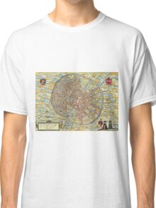 Leuven(2) Vintage map.Geography Belgium ,city view,building,political,Lithography,historical fashion,geo design,Cartography,Country,Science,history,urban Classic T-Shirt