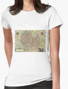 Leuven(2) Vintage map.Geography Belgium ,city view,building,political,Lithography,historical fashion,geo design,Cartography,Country,Science,history,urban Womens Fitted T-Shirt