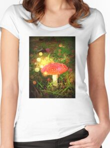 Magical Fairy Toadstool Women's Fitted Scoop T-Shirt