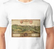 Limburg Vintage map.Geography Germany ,city view,building,political,Lithography,historical fashion,geo design,Cartography,Country,Science,history,urban Unisex T-Shirt