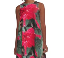 Right Red Flower A-Line Dress