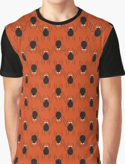 Halloween spiders pattern. Cute seamless background. Graphic T-Shirt