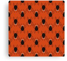 Halloween spiders pattern. Cute seamless background. Canvas Print