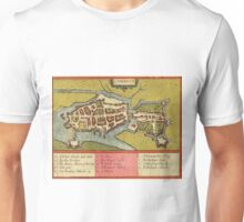 Limerick Vintage map.Geography Irland ,city view,building,political,Lithography,historical fashion,geo design,Cartography,Country,Science,history,urban Unisex T-Shirt