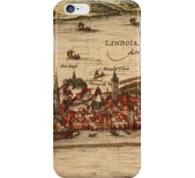 Lindau Vintage map.Geography Germany ,city view,building,political,Lithography,historical fashion,geo design,Cartography,Country,Science,history,urban iPhone Case/Skin