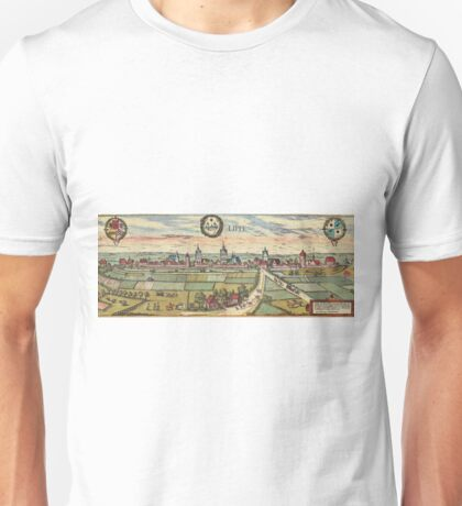 Lippstadt Vintage map.Geography Germany ,city view,building,political,Lithography,historical fashion,geo design,Cartography,Country,Science,history,urban Unisex T-Shirt