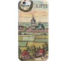 Lippstadt Vintage map.Geography Germany ,city view,building,political,Lithography,historical fashion,geo design,Cartography,Country,Science,history,urban iPhone Case/Skin