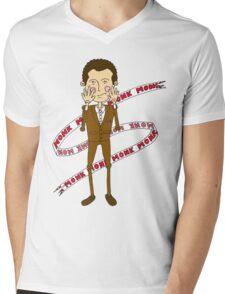 Monk inspired design Mens V-Neck T-Shirt