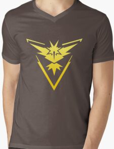 Team Instinct Pokemon Go gradient zapdos no text Mens V-Neck T-Shirt