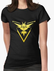 Team Instinct Pokemon Go gradient zapdos no text Womens Fitted T-Shirt