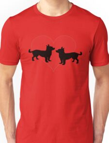 Chihuahuas in love Unisex T-Shirt