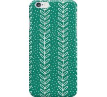 Simple leaf seamless pattern. Hand drawn blue background. Cute  wallpaper. iPhone Case/Skin