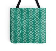 Simple leaf seamless pattern. Hand drawn blue background. Cute  wallpaper. Tote Bag