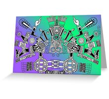 Aztec Warrior Greeting Card