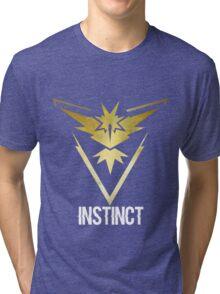 Team Instinct Galaxy Print - Bold Text (Pokemon Go) Tri-blend T-Shirt
