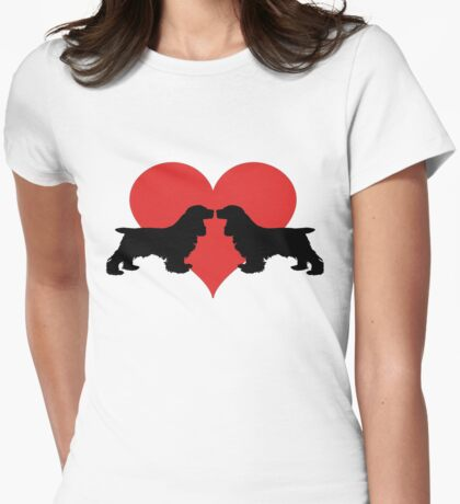 Cocker Spaniels Womens Fitted T-Shirt