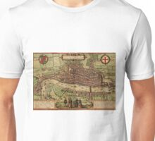 London Vintage map.Geography Great Britain ,city view,building,political,Lithography,historical fashion,geo design,Cartography,Country,Science,history,urban Unisex T-Shirt