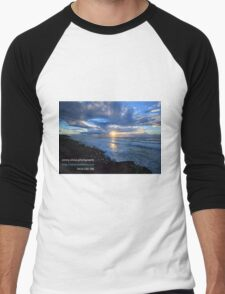 Sunrise Ballina with Photographers Details Men's Baseball ¾ T-Shirt