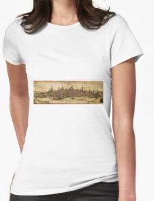 Lubeck Vintage map.Geography Germany ,city view,building,political,Lithography,historical fashion,geo design,Cartography,Country,Science,history,urban Womens Fitted T-Shirt