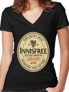 Innisfree Women's Fitted V-Neck T-Shirt