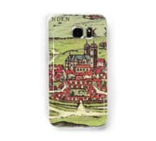 Lund Vintage map.Geography Sweden ,city view,building,political,Lithography,historical fashion,geo design,Cartography,Country,Science,history,urban Samsung Galaxy Case/Skin