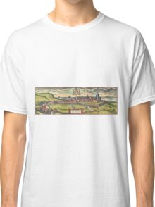 Loreto Vintage map.Geography Italy ,city view,building,political,Lithography,historical fashion,geo design,Cartography,Country,Science,history,urban Classic T-Shirt