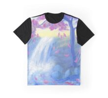 Sakura Falls Graphic T-Shirt