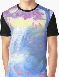 Sakura Falls Graphic T-Shirt