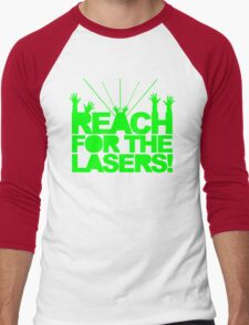 Reach For The Lasers Music Quote Men's Baseball ¾ T-Shirt