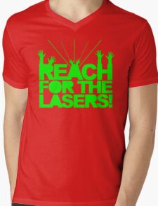 Reach For The Lasers Music Quote Mens V-Neck T-Shirt