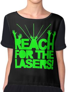 Reach For The Lasers Music Quote Chiffon Top