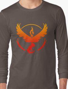 Team Valor Pokemon Go gradient moltres no text Long Sleeve T-Shirt
