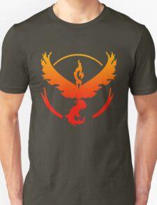 Team Valor Pokemon Go gradient moltres no text Unisex T-Shirt