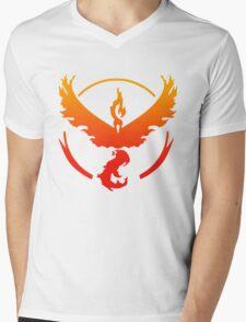 Team Valor Pokemon Go gradient moltres no text Mens V-Neck T-Shirt