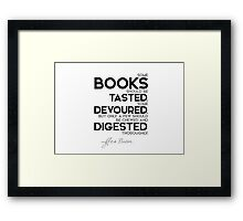 books: some tasted, devoured, digested - francis bacon Framed Print