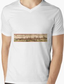 Lunenburg Vintage map.Geography Germany ,city view,building,political,Lithography,historical fashion,geo design,Cartography,Country,Science,history,urban Mens V-Neck T-Shirt