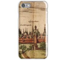 Lunenburg Vintage map.Geography Germany ,city view,building,political,Lithography,historical fashion,geo design,Cartography,Country,Science,history,urban iPhone Case/Skin
