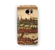 Luzern Vintage map.Geography Switzerland ,city view,building,political,Lithography,historical fashion,geo design,Cartography,Country,Science,history,urban Samsung Galaxy Case/Skin