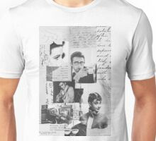Creative Portrait Collage of 1950's Icons Unisex T-Shirt
