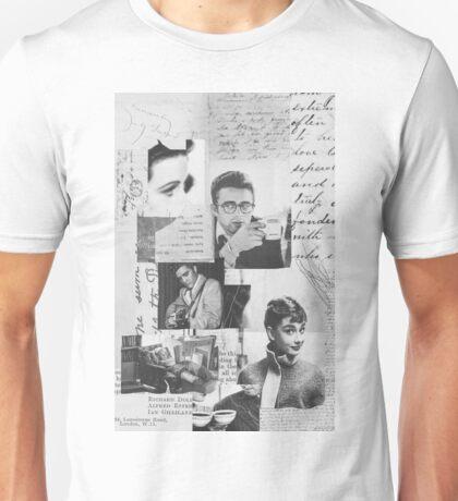 Creative Portrait Collage of 1950's Icons Unisex T-Shirt
