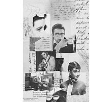 Creative Portrait Collage of 1950's Icons Photographic Print