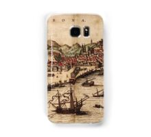 Lisbon Vintage map.Geography Portugal ,city view,building,political,Lithography,historical fashion,geo design,Cartography,Country,Science,history,urban Samsung Galaxy Case/Skin