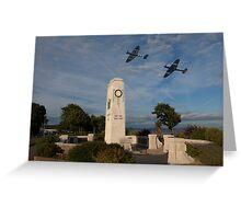 Battle of Britain Memorial flight Greeting Card