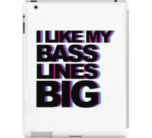 Bass Lines Big Music Quote iPad Case/Skin