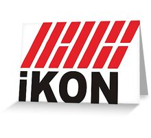 Kpop Ikon Cartoon T Shirt Greeting Card