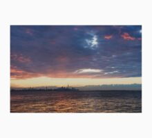 Just Before Sunrise - Toronto Skyline Silhouette One Piece - Short Sleeve