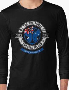 People of Tomorrowland Flags logo Badge - Australia - Australian - Australie Long Sleeve T-Shirt