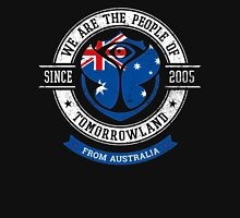 People of Tomorrowland Flags logo Badge - Australia - Australian - Australie Unisex T-Shirt